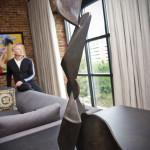 Lev Glazman's sculpture